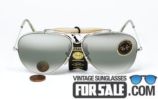Ray Ban Shooter 10K White Gold Bausch & Lomb 58mm