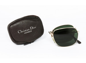 Christian Dior 2288 col. 40 FOLDING original vintage sunglasses CASE SET