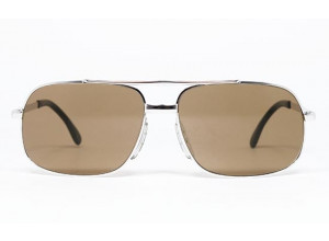 Marwitz 718 Silver frame & Brown lenses front