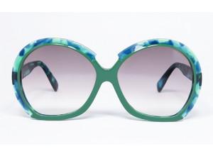 Silhouette 585 col. 961 Blue CAMO Tortoise & Green sunglasses front
