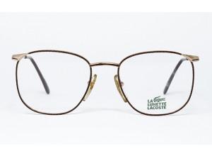 Lacoste 777 L640 Brown Snake Skin & Gold frame front