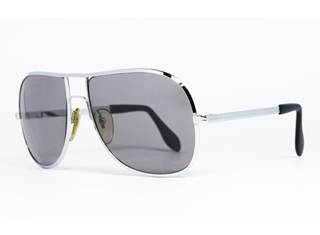 Silhouette 6-02 Glossy Silver & Black original vintage sunglasses