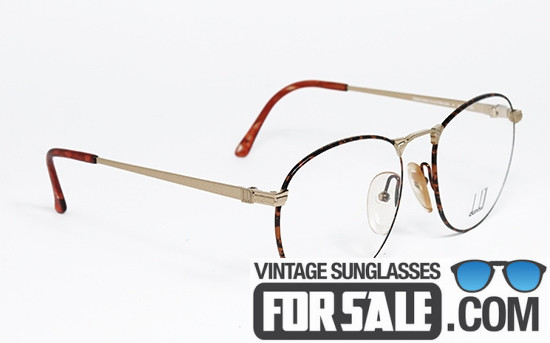 Dunhill 6065 col. 42 Spotted Brown & Gold vintage frame front