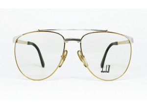 Dunhill 6034 col. 47 Gold & Silver aviator vintage frame front