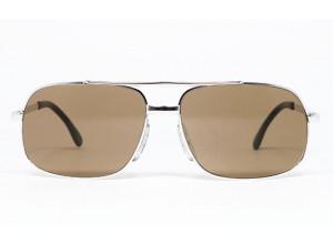 Marwitz 718 Silver frame & Brown lenses front